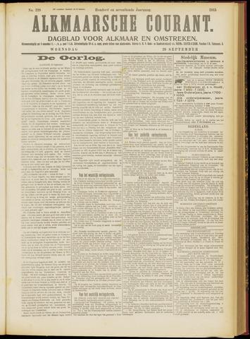 Alkmaarsche Courant 1915-09-29