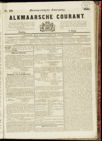 Alkmaarsche Courant 1861-06-09