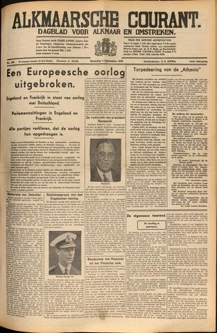 Alkmaarsche Courant 1939-09-04