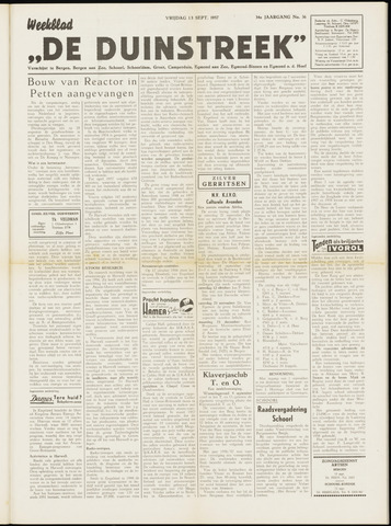 De Duinstreek 1957-09-13