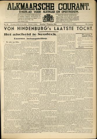 Alkmaarsche Courant 1934-08-07