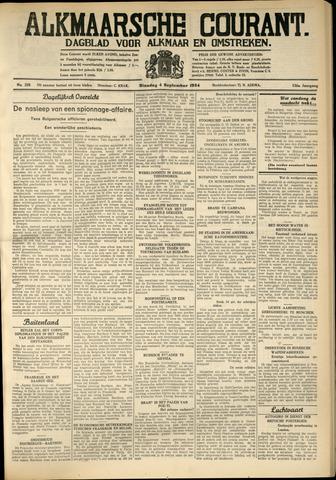 Alkmaarsche Courant 1934-09-04