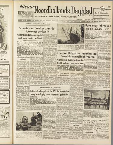 Nieuw Noordhollandsch Dagblad : voor Alkmaar en omgeving 1949-08-17