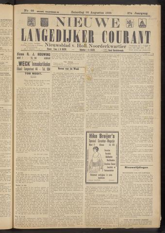 Nieuwe Langedijker Courant 1928-08-25