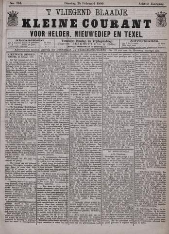 Vliegend blaadje : nieuws- en advertentiebode voor Den Helder 1880-02-24