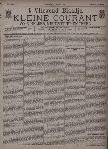 Vliegend blaadje : nieuws- en advertentiebode voor Den Helder 1886-01-27