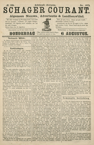 Schager Courant 1874-08-06