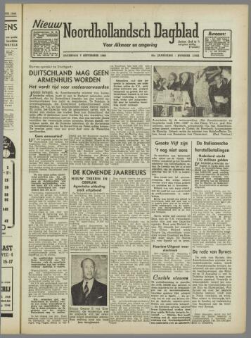 Nieuw Noordhollandsch Dagblad : voor Alkmaar en omgeving 1946-09-07