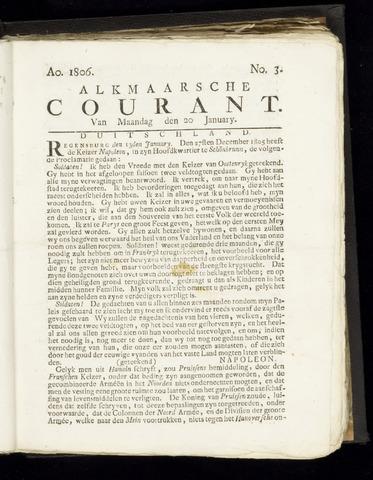 Alkmaarsche Courant 1806-01-20