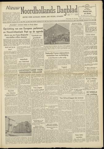 Nieuw Noordhollandsch Dagblad : voor Alkmaar en omgeving 1948-10-25