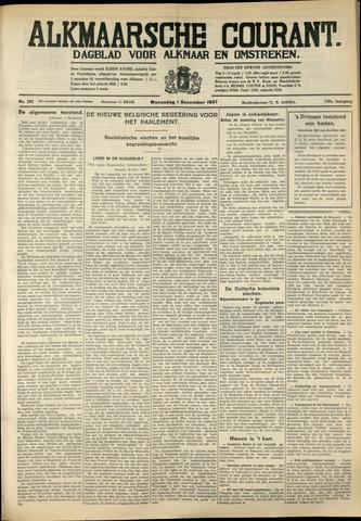 Alkmaarsche Courant 1937-12-01