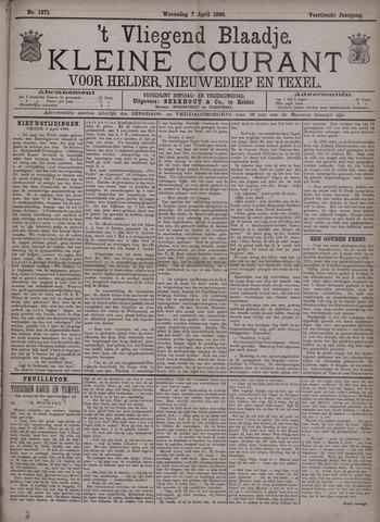 Vliegend blaadje : nieuws- en advertentiebode voor Den Helder 1886-04-07
