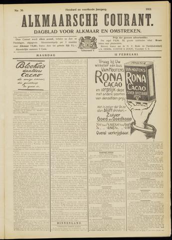 Alkmaarsche Courant 1912-02-12