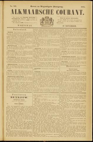 Alkmaarsche Courant 1895-11-27