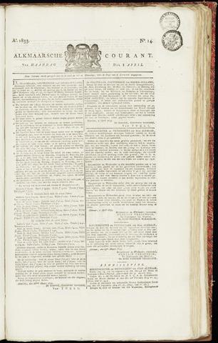 Alkmaarsche Courant 1833-04-08