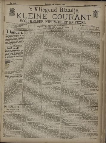 Vliegend blaadje : nieuws- en advertentiebode voor Den Helder 1890-12-24