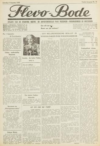 Flevo-bode: nieuwsblad voor Wieringen-Wieringermeer 1949-08-06