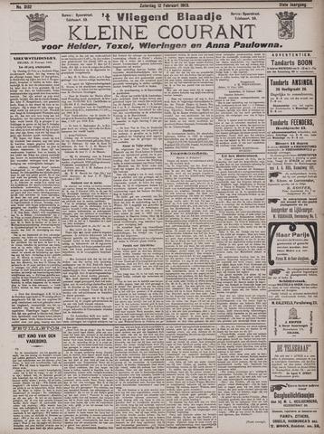 Vliegend blaadje : nieuws- en advertentiebode voor Den Helder 1903-02-21