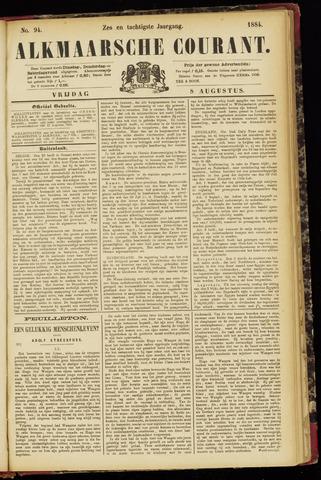 Alkmaarsche Courant 1884-08-08
