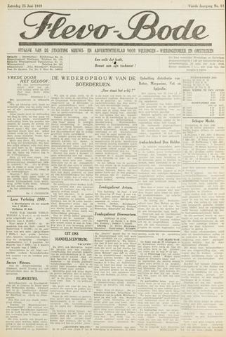 Flevo-bode: nieuwsblad voor Wieringen-Wieringermeer 1949-06-25