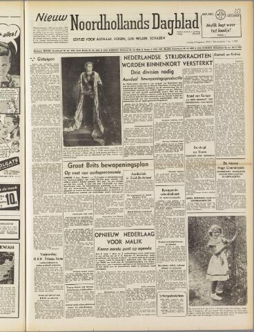 Nieuw Noordhollandsch Dagblad : voor Alkmaar en omgeving 1950-08-04