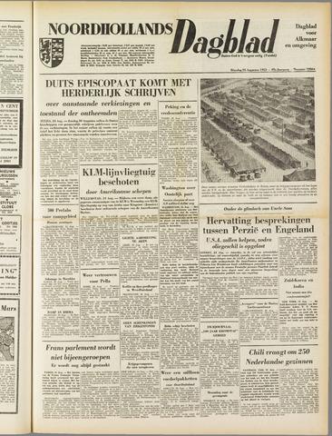 Noordhollands Dagblad : dagblad voor Alkmaar en omgeving 1953-08-25