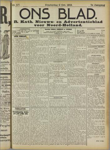 Ons Blad : katholiek nieuwsblad voor N-H 1913-10-09