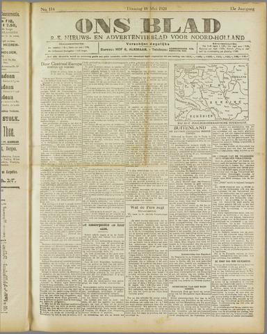 Ons Blad : katholiek nieuwsblad voor N-H 1920-05-18