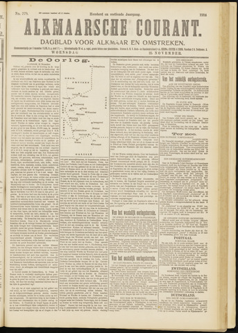 Alkmaarsche Courant 1914-11-25