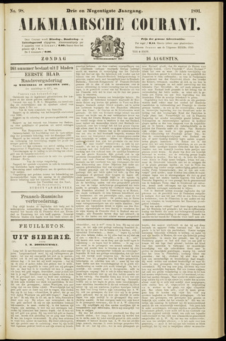 Alkmaarsche Courant 1891-08-16