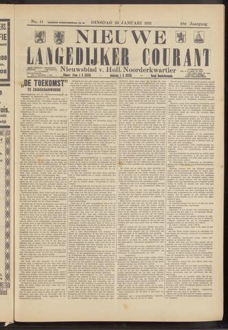 Nieuwe Langedijker Courant 1931-01-20