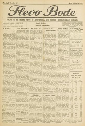 Flevo-bode: nieuwsblad voor Wieringen-Wieringermeer 1947-11-15