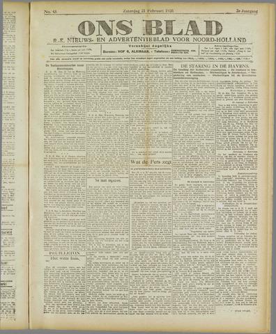 Ons Blad : katholiek nieuwsblad voor N-H 1920-02-21