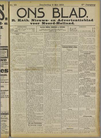 Ons Blad : katholiek nieuwsblad voor N-H 1912-05-09