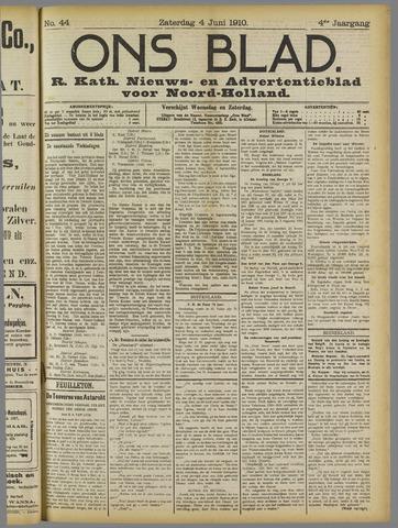 Ons Blad : katholiek nieuwsblad voor N-H 1910-06-04