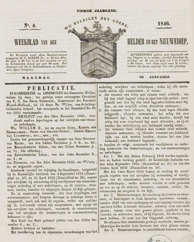 Weekblad van Den Helder en het Nieuwediep 1846-01-26