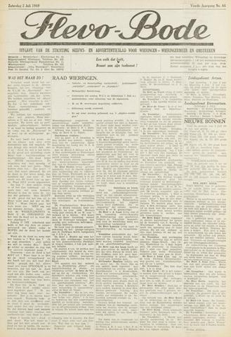 Flevo-bode: nieuwsblad voor Wieringen-Wieringermeer 1949-07-02