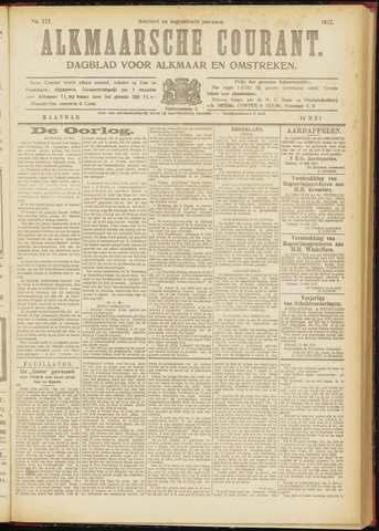 Alkmaarsche Courant 1917-05-14