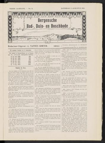Bergensche bad-, duin- en boschbode 1913-08-02
