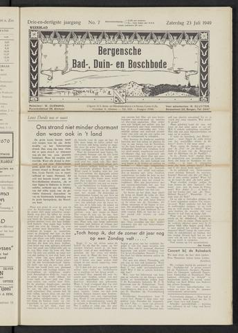 Bergensche bad-, duin- en boschbode 1949-07-23
