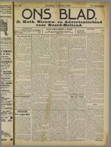 Ons Blad : katholiek nieuwsblad voor N-H 1913-03-04