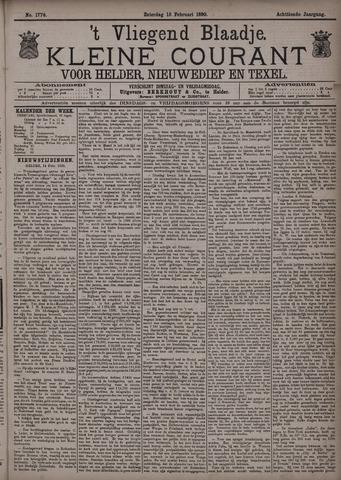 Vliegend blaadje : nieuws- en advertentiebode voor Den Helder 1890-02-15