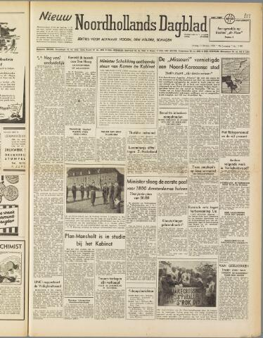Nieuw Noordhollandsch Dagblad : voor Alkmaar en omgeving 1950-10-13