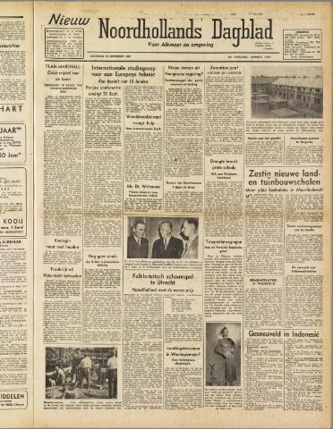 Nieuw Noordhollandsch Dagblad : voor Alkmaar en omgeving 1947-09-13