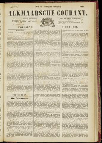 Alkmaarsche Courant 1881-10-05