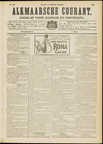 Alkmaarsche Courant 1913-05-07