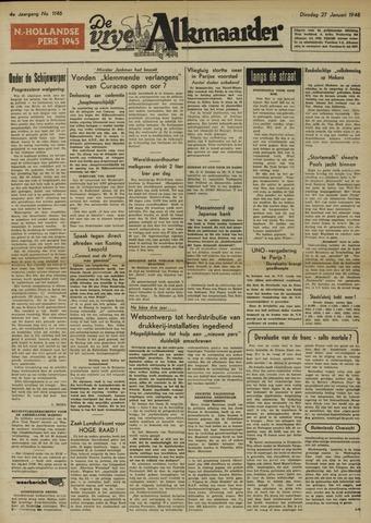 De Vrije Alkmaarder 1948-01-27