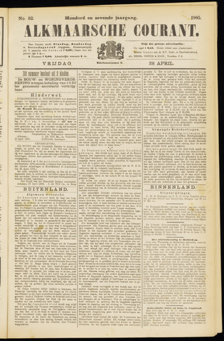 Alkmaarsche Courant 1905-04-28
