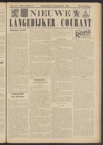 Nieuwe Langedijker Courant 1926-09-23