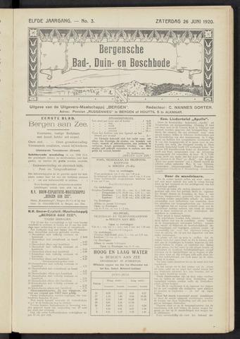 Bergensche bad-, duin- en boschbode 1920-06-26